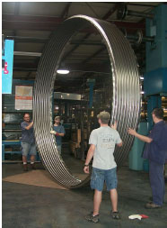 large metal expansion joint